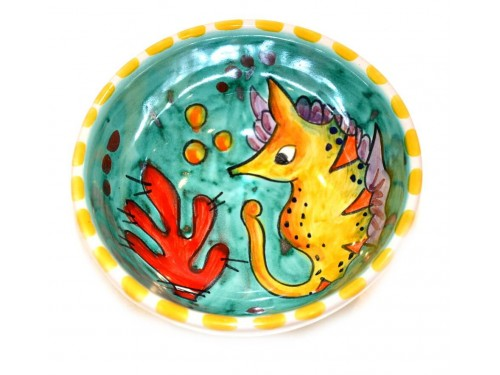 Condiment Bowl Fishes green 4,70 inches