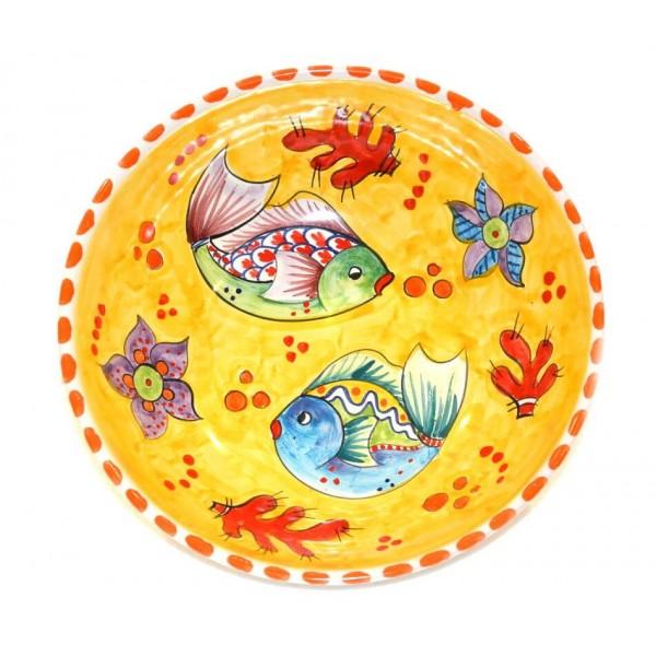 Round Bowl Fishes yellow
