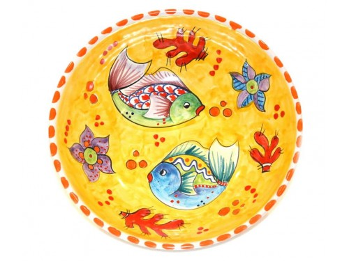 Round Bowl Fishes yellow