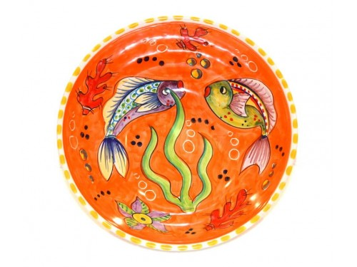 Round Bowl Fishes orange