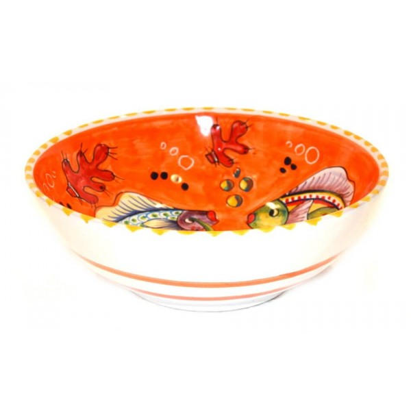 Round Bowl Fishes orange