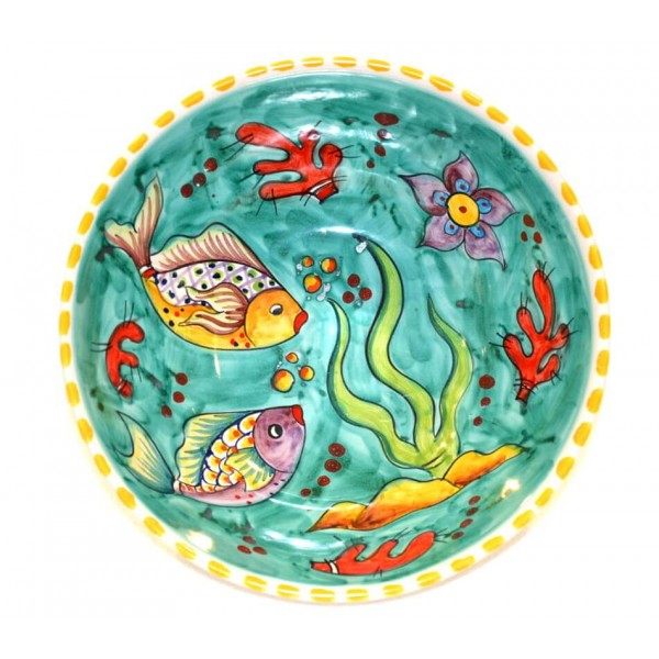 Round Bowl Fishes green