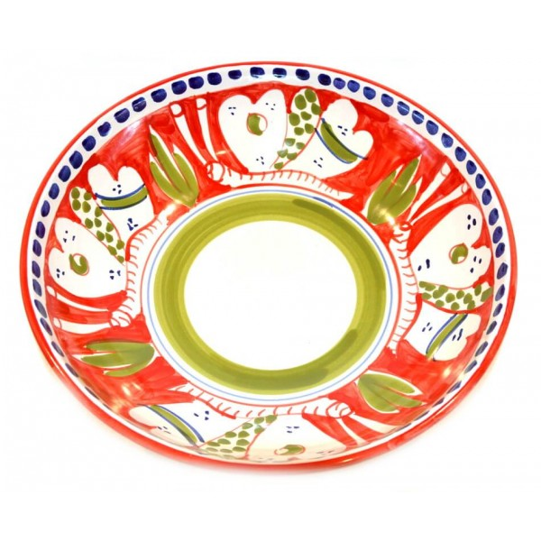 Serving Bowl butterfly red