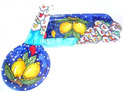 Spoon Rest and Tray Houses Blue