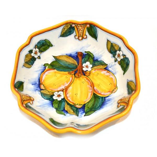Scalopped Bowl Lemon Conca