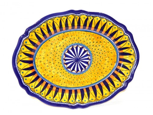 Oval scalopped Plate Geribi