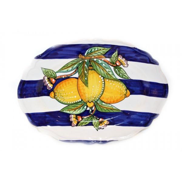 Oval scalopped Plate Lemon Modern (version 1)