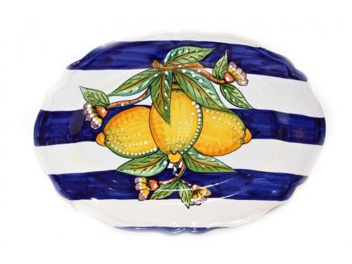 Piatto Ovale Smerlato Limoni Moderno 1