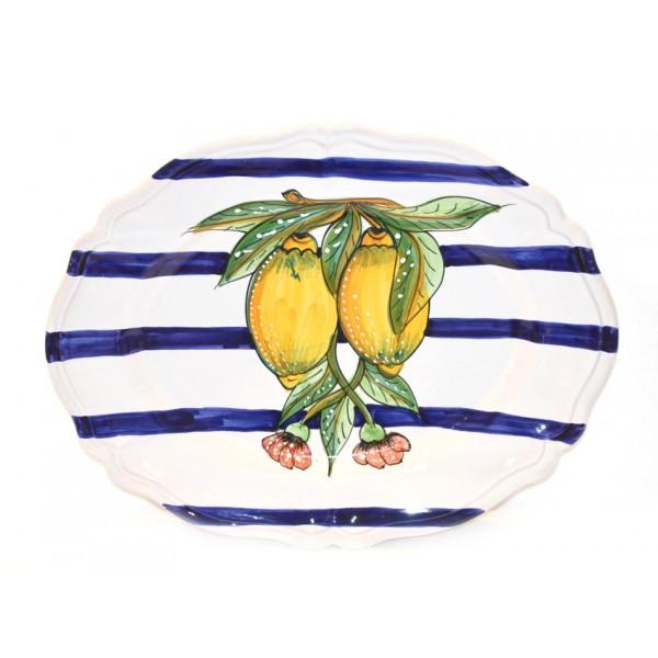 Oval scalopped Plate Lemon Modern (version 2)