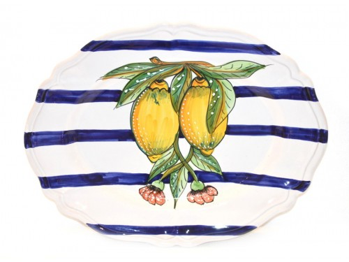 Oval scalopped Plate Lemon Modern (version 2)