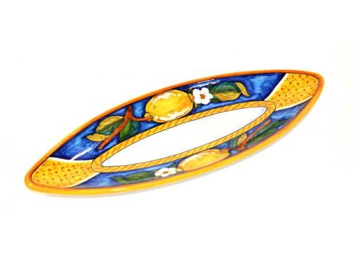 Piatto Ovale (appuntito) Limoni Conca Blu