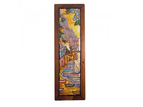 Set 2 tiles Amalfi framed vertical