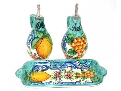 Oil & Vinegar Set Barocco Green