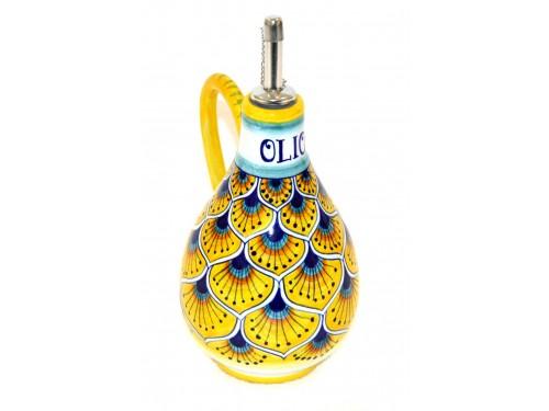 Oil Bottle Peacock Yellow