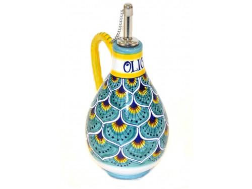 Oil Bottle Peacock Aquamarine