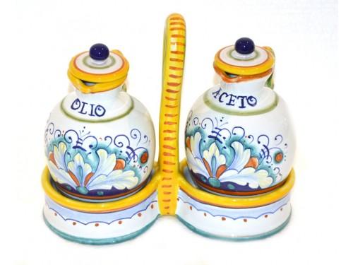 Set Olio - Aceto Classico 1 con cestino