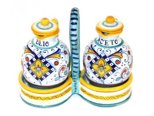 Set Olio - Aceto Classico 2 con cestino