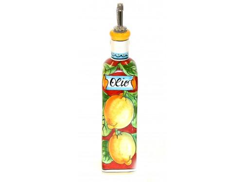 Bottiglia Olio Limoni Rosso