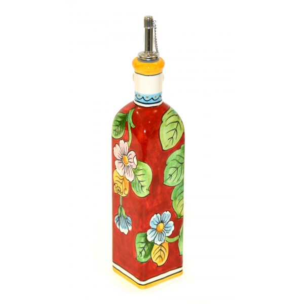 Oil Bottle Lemon Red