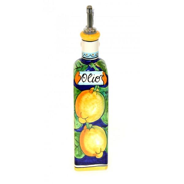 Oil Bottle Lemon Blue
