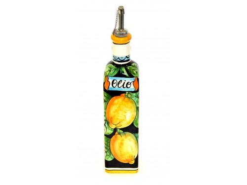 Bottiglia Olio Limoni nero