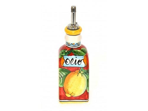 Piccola Bottiglia Olio Limoni Rosso
