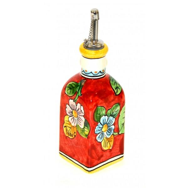 Small Oil Bottle Lemon Red