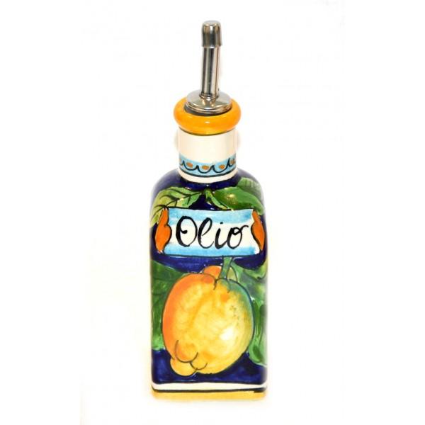 Small Oil Bottle Lemon Blue