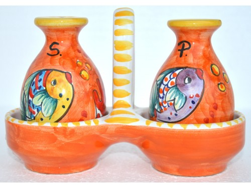 Salt - Pepper Set Fishes orange