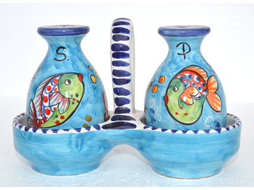 Salt & Pepper Fishes light blue