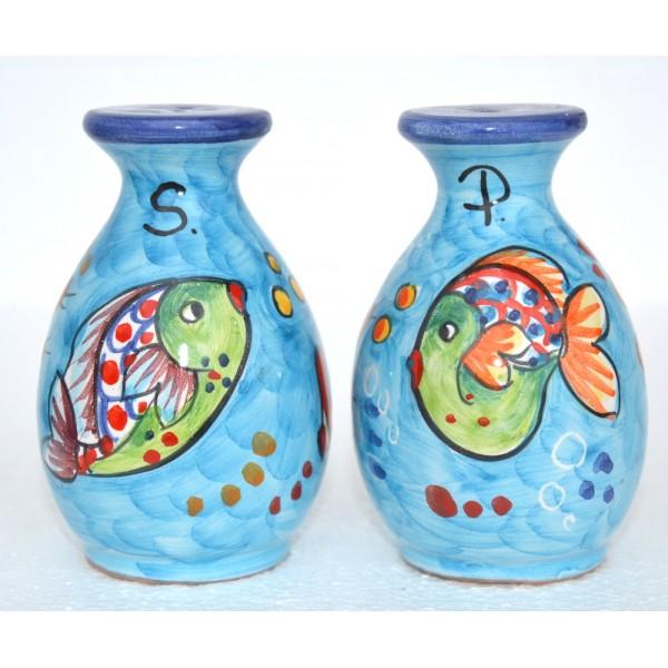 Salt & Pepper Fishes light blue