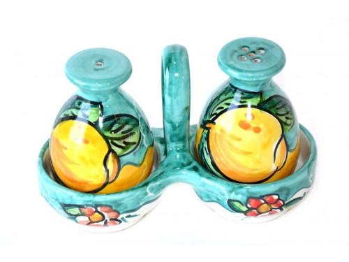 Salt & Pepper Lemon flower aquamarine