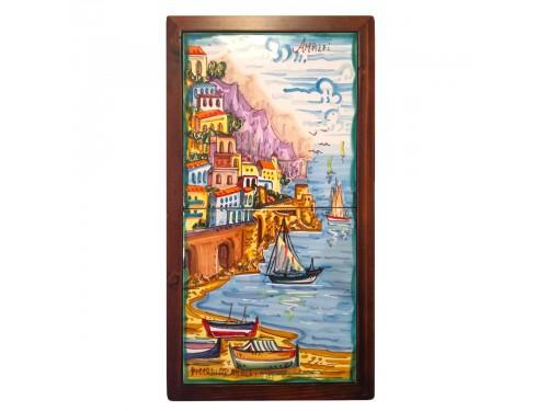 Set 2 tiles Amalfi framed 8x8