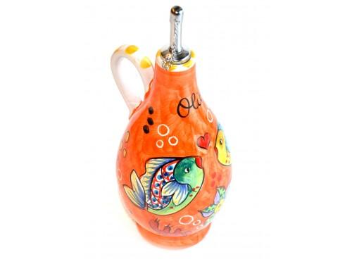 Bottiglia Olio Pesci arancione