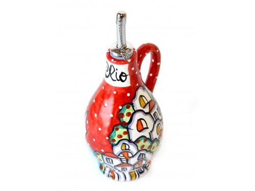 Bottiglia Olio Casette rosso