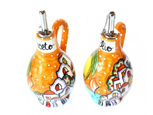 Set Olio - Aceto Casette arancione