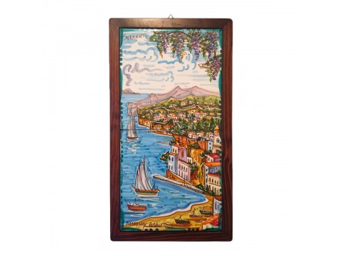 Set 2 tiles Sorrento framed 8x8