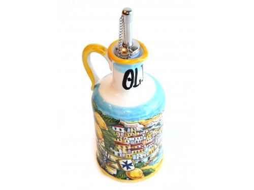 Bottiglia Olio Decoro Amalfi giallo