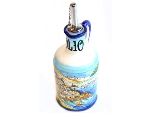 Bottiglia Olio Stile Amalfi blu