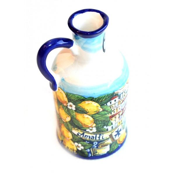 Oil Bottle Amalfi Style blue