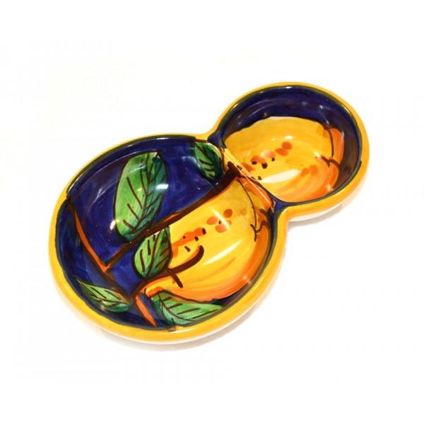 Olive bowl appetizer lemon blue