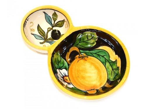Olive bowl appetizer lemon olives black