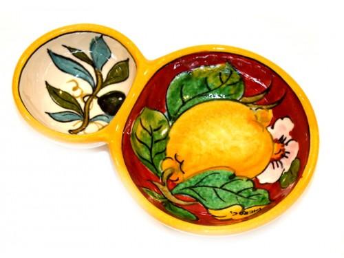 Olive bowl appetizer lemon olives red