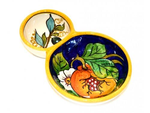 Olive bowl appetizer pomegranate olives blue