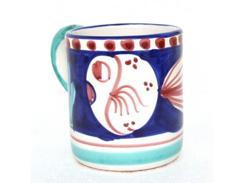 Bicchiere Pesce palla blu