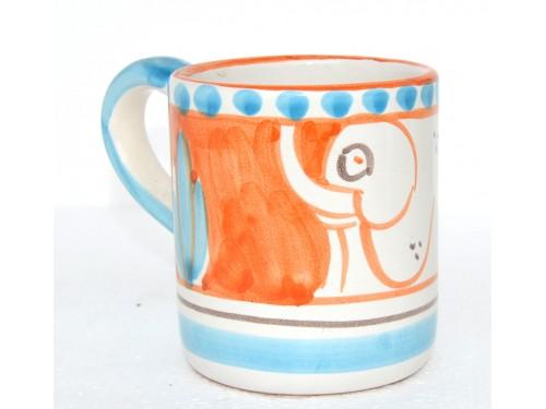 Bicchiere Elefante arancione