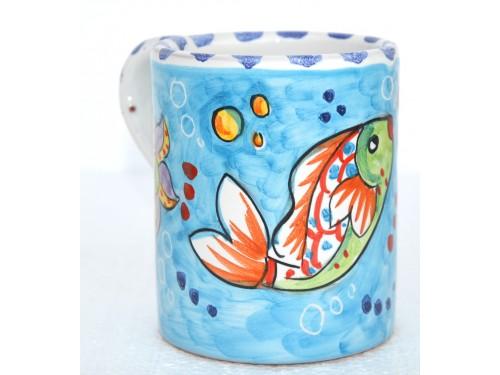 Mug Fishes Light Blue