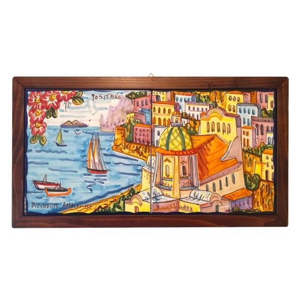 Set 2 tiles Positano framed horizontal