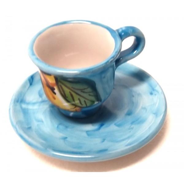 Espresso Cup & Saucer Lemon light blue