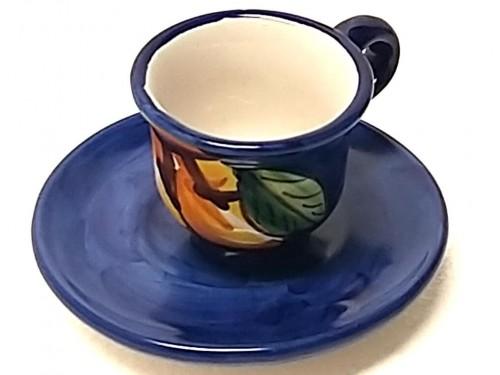 Espresso Cup & Saucer Lemon blue